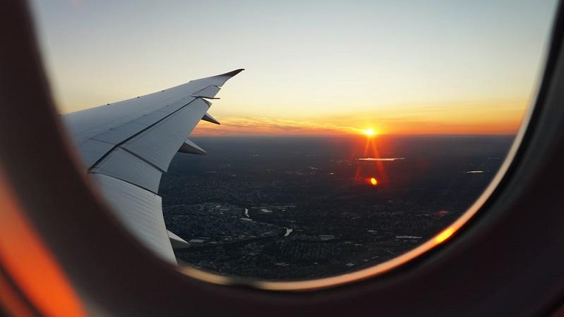 Avião - pôr do sol