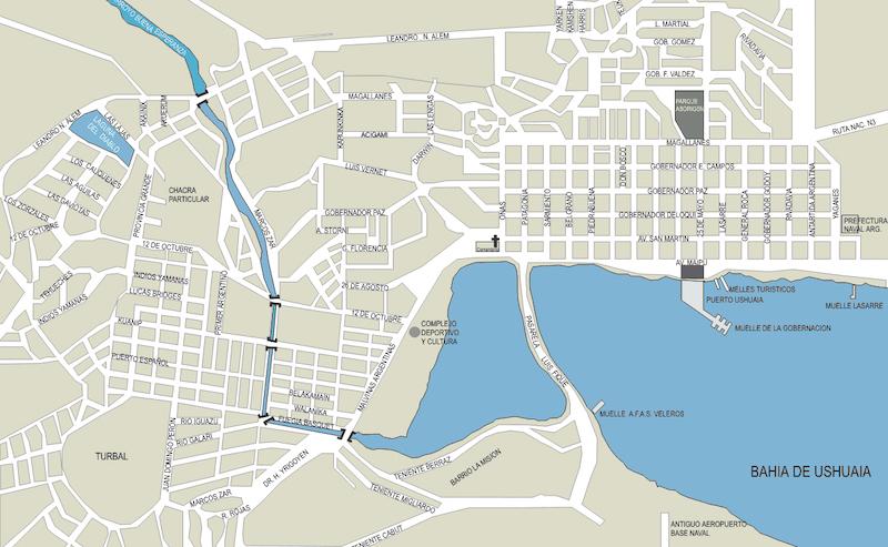 Onde ficar em Ushuaia: mapa da cidade